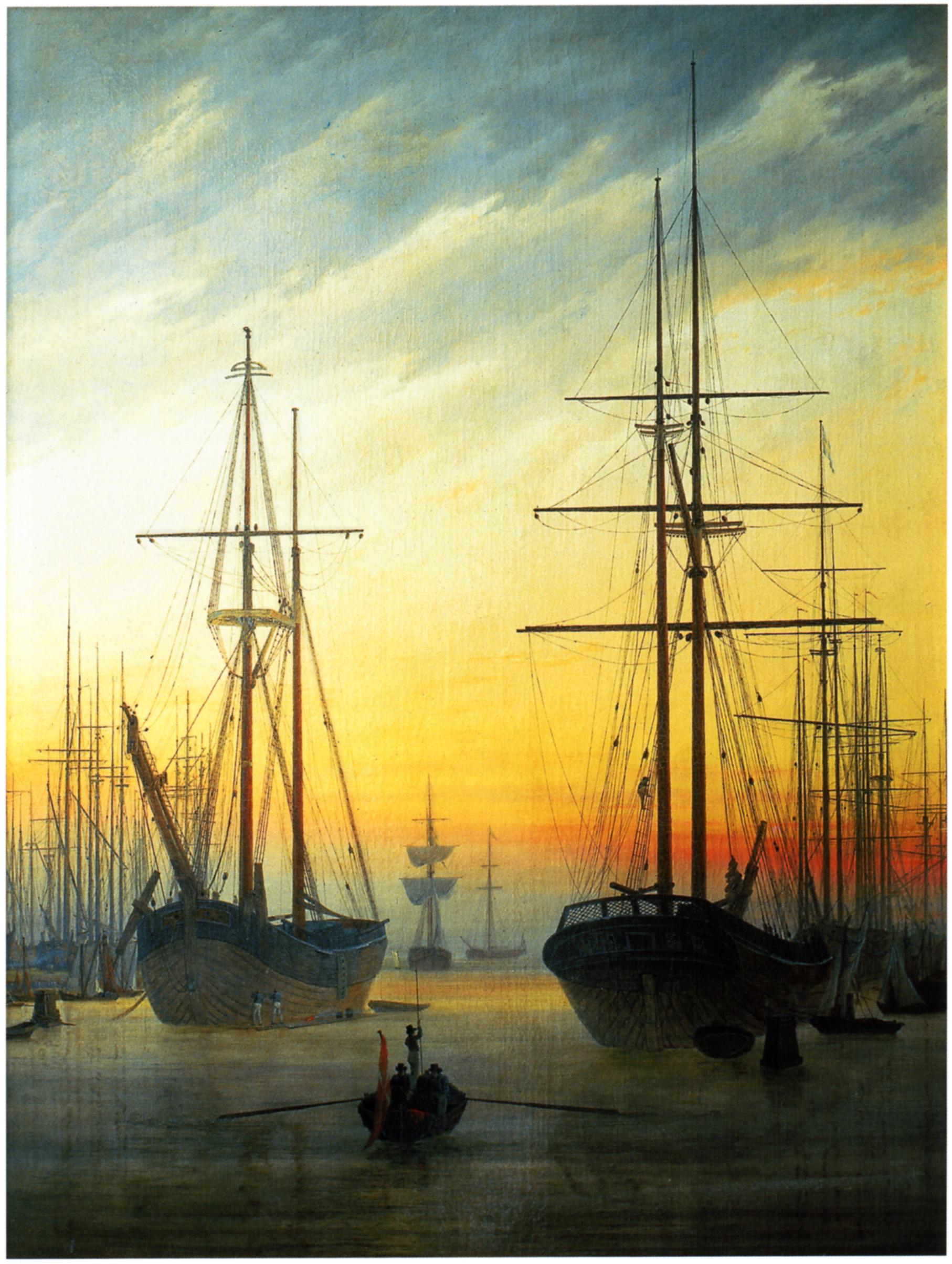 Landschaftsmalerei romantik friedrich  Caspar David Friedrich - Werke, Bilder und Gemälde)