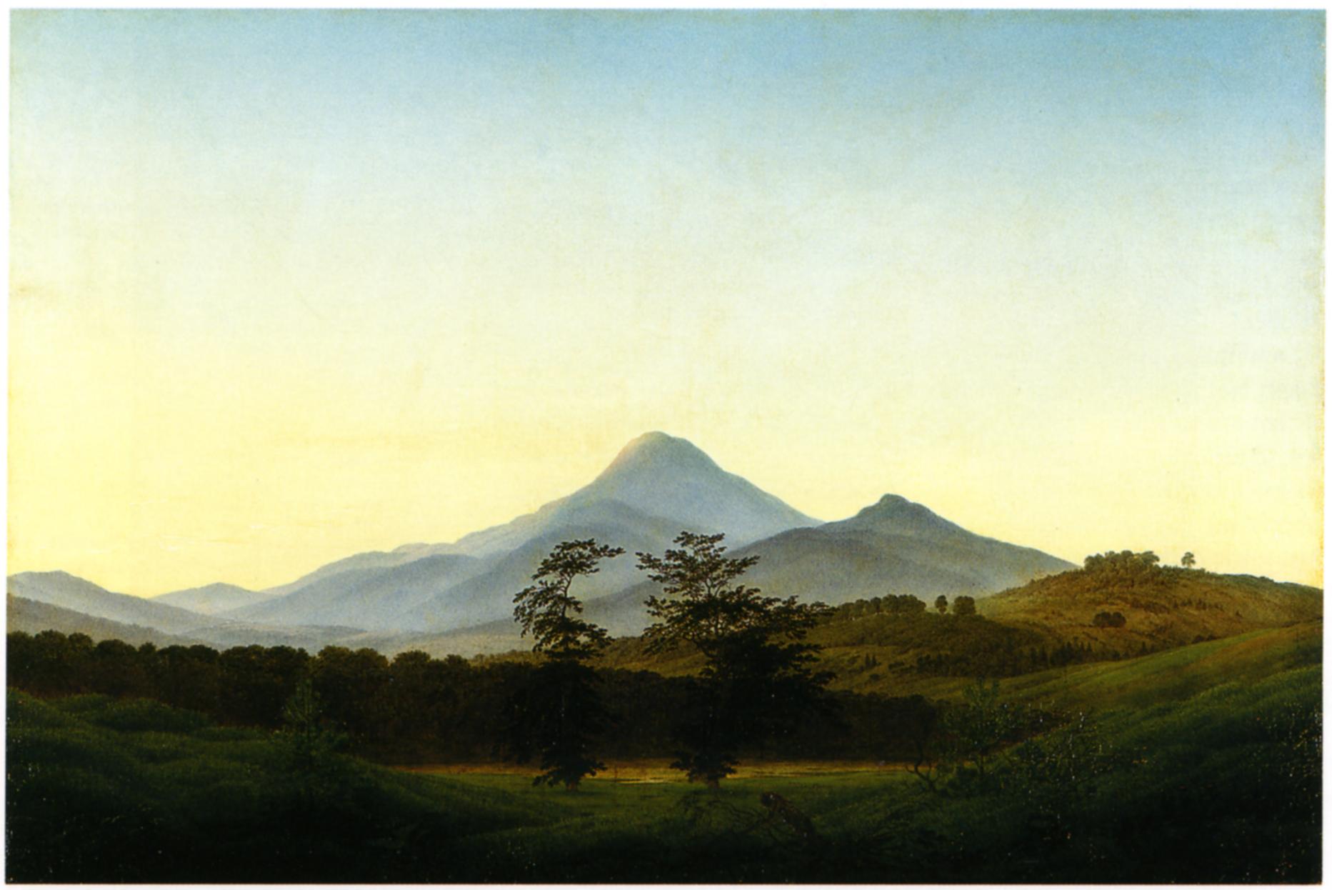 Landschaftsmalerei barock  Caspar David Friedrich - Werke, Bilder und Gemälde)