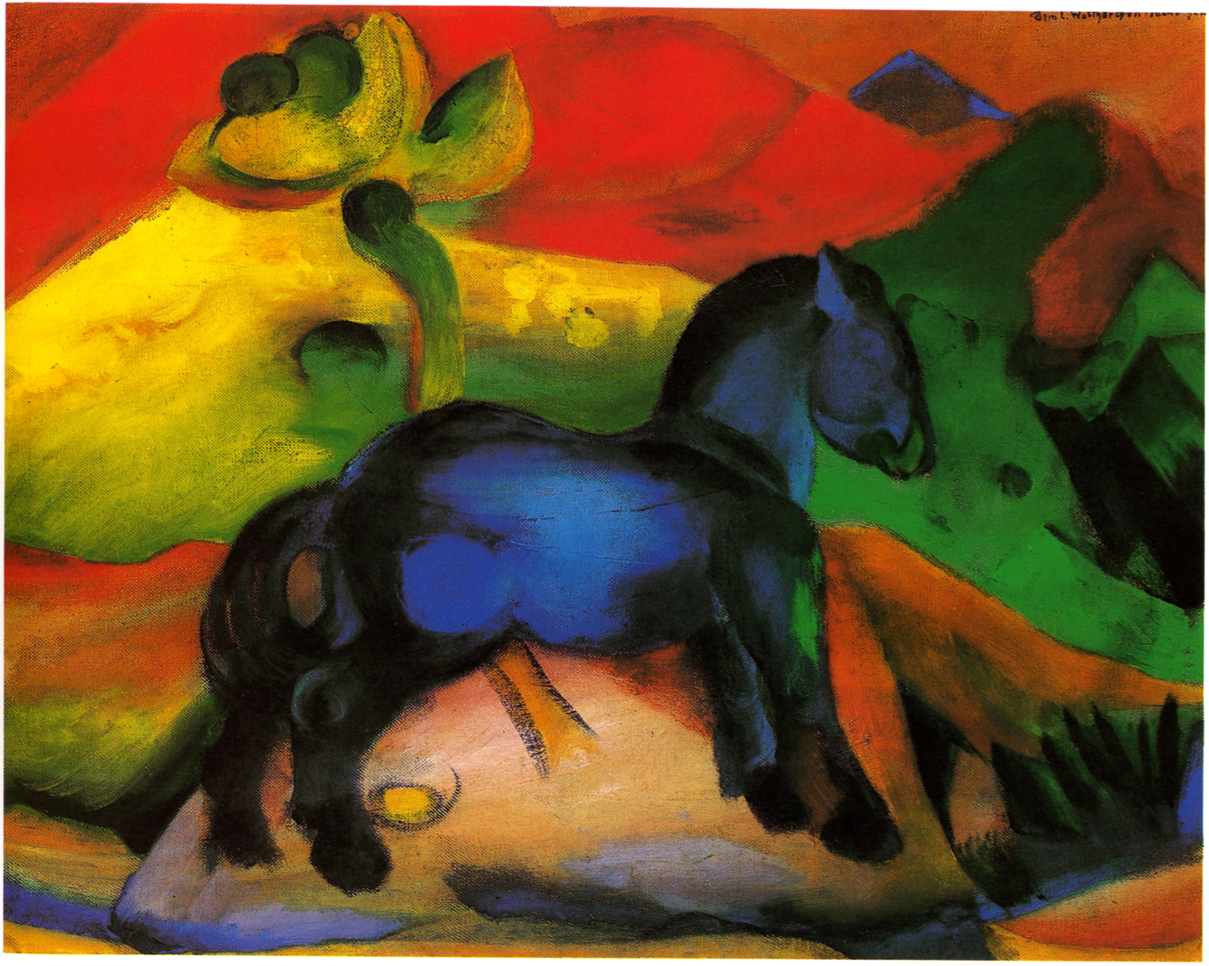 Franz Marc Blaues Pferd Malvorlage Coloring And Malvorlagan