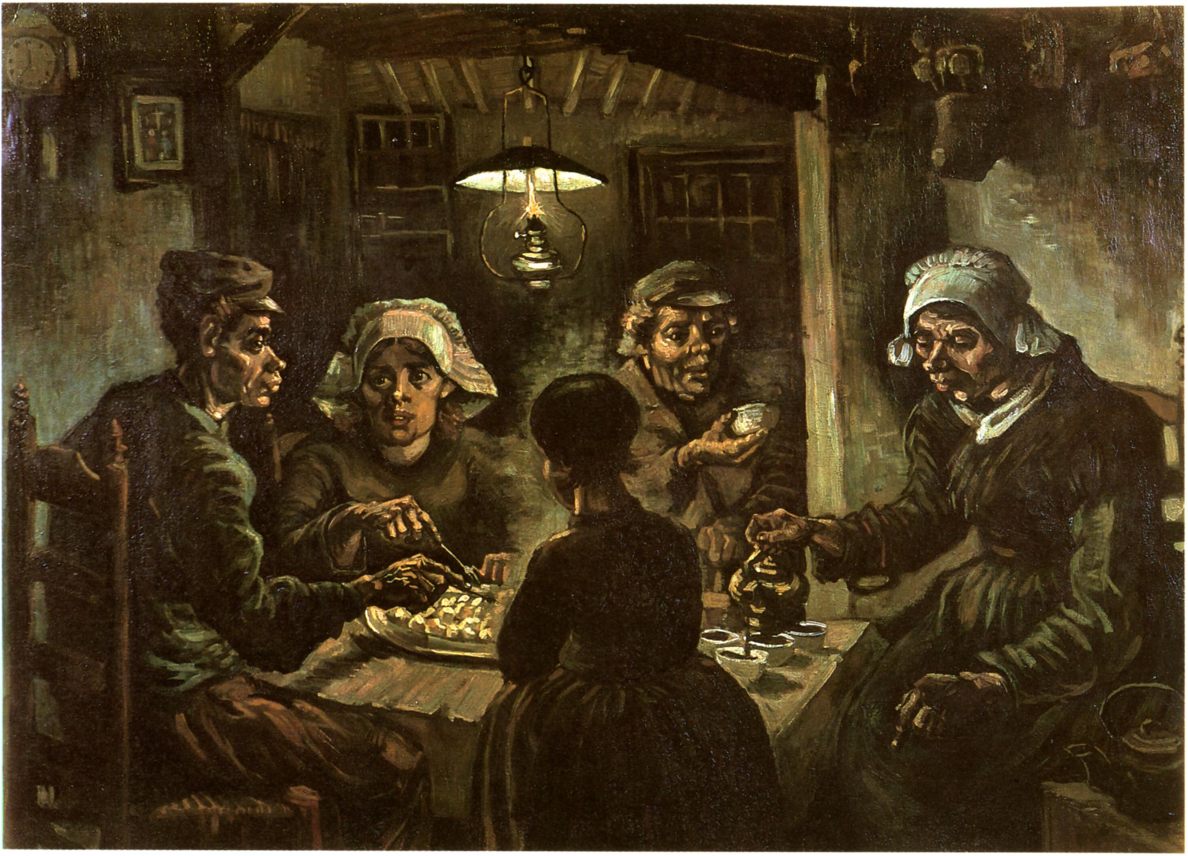 Kunstlinks kunst kunstgeschichte und kunstunterricht - Van gogh comedores de patatas ...