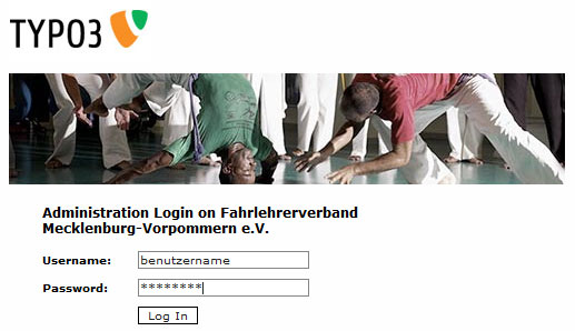 Typo3 Backend Login